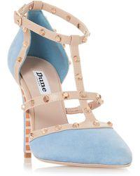 Dune - Blue Suede 'daenerys' High Stiletto Heel Court Shoes - Lyst