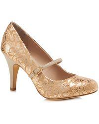 Lotus - Gold Lace 'fuzina' High Stiletto Heel Mary Janes - Lyst