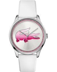 Lacoste - Ladies White Strap Watch - Lyst