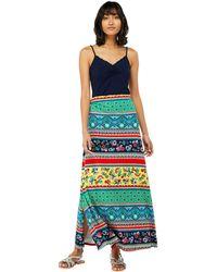 Monsoon - Multicoloured 'niquita' Print Maxi Skirt - Lyst