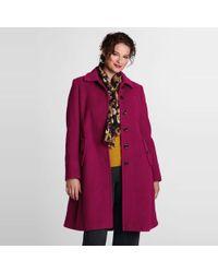 Lands' End - Purple Plus Luxe Wool Swing Car Coat - Lyst