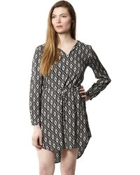 922333e1ffcd2a Izabel London - Black Diamond Print Shift Dress - Lyst