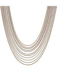 J By Jasper Conran - Designer Two Tone Multi Chain Necklace - Lyst