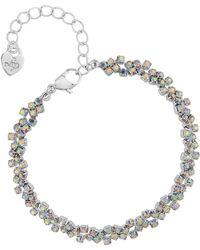 Lipsy - Silver Rainbow Crystal Bracelet - Lyst