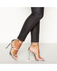 58af91ea3822 Faith - Silver Metallic  loyal  High Stilleto Heel Sandals - Lyst