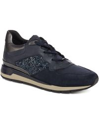 Geox - Navy 'shahira' Lace Up Trainers - Lyst