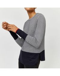5d55f904bb0 Toast Stripe Cotton linen Jumper in Blue - Lyst