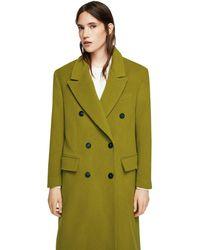 Mango - Green 'samsa' Oversize Coat - Lyst