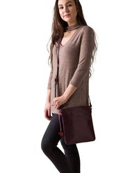Conkca London - Plum 'avril' Handcrafted Leather Handbag - Lyst