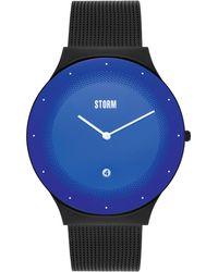 Storm - Men's Black 'terelo' Analogue Bracelet Mesh Watch 47391/sl - Lyst