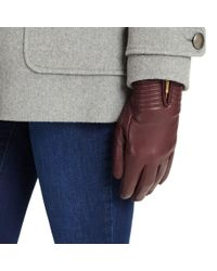 Phase Eight - Port Zip Leather Gloves - Lyst