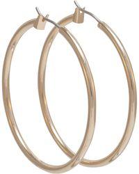 Anne Klein - Gold Large Hoop Earrings - Lyst