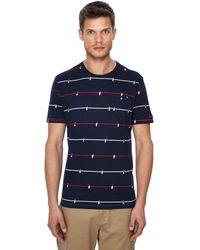 Ben Sherman - Navy Table Football Print T-shirt - Lyst