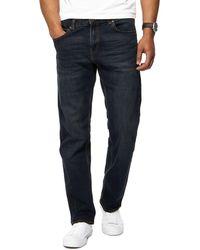 Red Herring - Dark Blue Dark Wash Green Tint Straight Jeans - Lyst