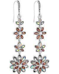 Jenny Packham - Designer Floral Drop Earrings - Lyst