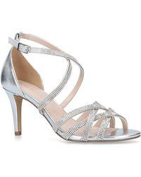 f633a4749f2 Nine West Fastlife Metallic Platform Sandals in Metallic - Lyst