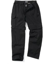 Craghoppers - Black Water Repelling Kiwi Zipoff Trousers - Lyst