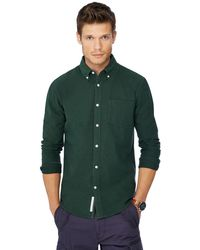 Racing Green - Big And Tall Dark Green Oxford Shirt - Lyst