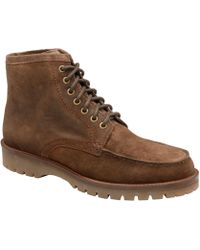 Frank Wright - Chocolate 'coburn' Suede/fleece Lace Up Boots - Lyst