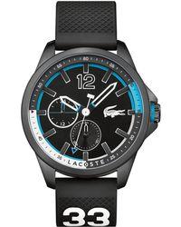 Lacoste - Gents Black Strap Watch - Lyst