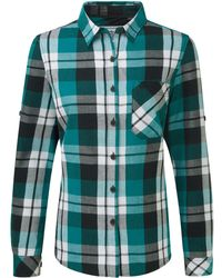 Tog 24 - Teal Check Rowena Flannel Shirt - Lyst