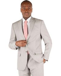 Racing Green - Oatmeal Linen Tailored Fit 2 Button Suit Jacket - Lyst