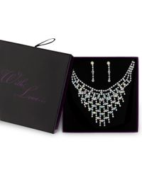 Red Herring - Silver Aurora Borealis Crystal Diamante Jewellery Set - Lyst