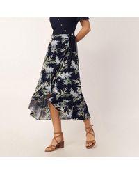 a353f07c2991 Oasis - Multi Blue 'jasmine' 2 In 1 Midi Dress - Lyst