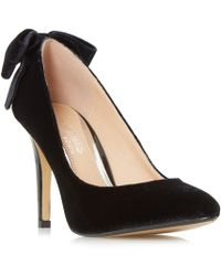 Dune - Black 'ashleigh' Bow Back Pointed Toe Court Shoes - Lyst