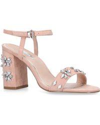Miss Kg - Nude 'shimmer' Mid Heel Sandals - Lyst