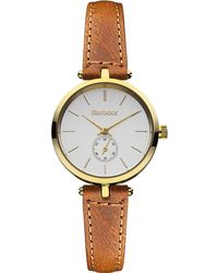 Barbour - Ladies Silver Dial Qa Strap Watch Bb011gdtn - Lyst