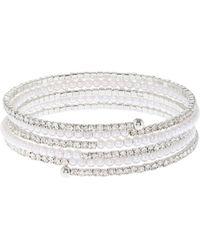 Coast - Silver 'alma' Pearl Wrap Bracelet - Lyst