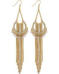 Lipsy - Layered Chain Drop Earrings - Lyst