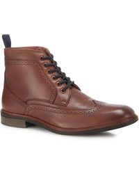 Lotus - Brown Leather 'aldridge' Brogue Boots - Lyst