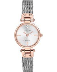 Anne Klein - Ladies Silver 'isabel' Analogue Bracelet Watch Ak/n3003svrt - Lyst