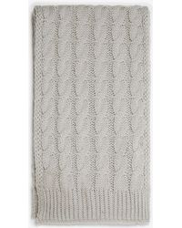 Dorothy Perkins - Grey Cable Knit Scarf - Lyst