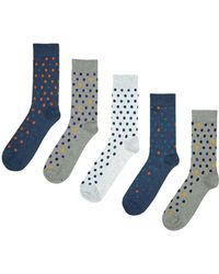 Burton - 5 Pack Coloured Spotted Socks - Lyst