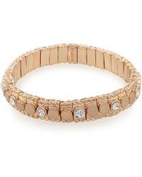 Pilgrim - Rose Gold Plated Stone Stretch Bracelet - Lyst