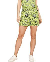 Oasis - Multi Yellow 'provence' Print Shorts - Lyst
