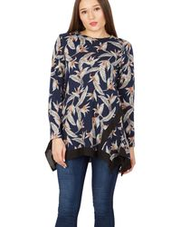 Tenki - Blue Floral Handkerchief Bottom Jumper - Lyst