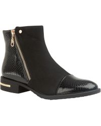 Lotus - Black 'coppice' Block Heel Ankle Boots - Lyst
