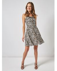 1910ce06b56e5 Dorothy Perkins Multi Colour Animal Print Button Through Camisole Dress in  Black - Lyst