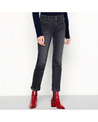 J By Jasper Conran 'lift And Shape' Straight Leg Jeans - Gray