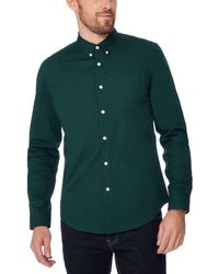 Red Herring - Green Cotton Long Sleeve Slim Fit Shirt - Lyst