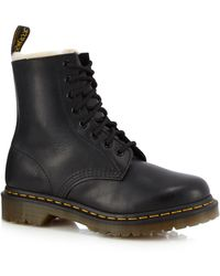 Dr. Martens - Black Leather '1460 Serna' Lace Up Boots - Lyst