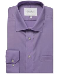 Double Two - Big And Tall Purple Single Cuff 100% Cotton Shirt - Lyst