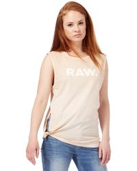 460e70ab94d Women's G-Star RAW Sleeveless and tank tops Online Sale - Lyst