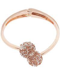 Coast - Rose Gold 'seyda' Dimante Cuff Bracelet - Lyst