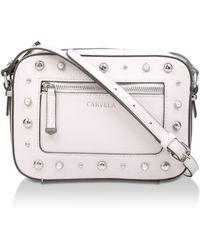Carvela Kurt Geiger - Cream 'mia Pearl Stud X Body' Cross Body Bag - Lyst
