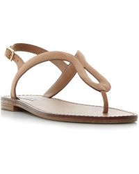 Steve Madden - Tan Leather 'takeaway' Ankle Strap Sandals - Lyst